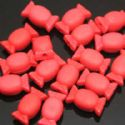 Beads, Acrylic, Burgandy, Designer shapes, 15mm x 9mm x 6mm, 15g, 25 Beads, (SLZ0061)